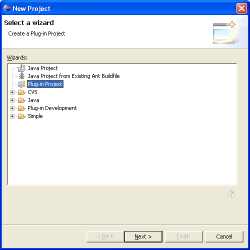 Create Eclipse Plugin Project