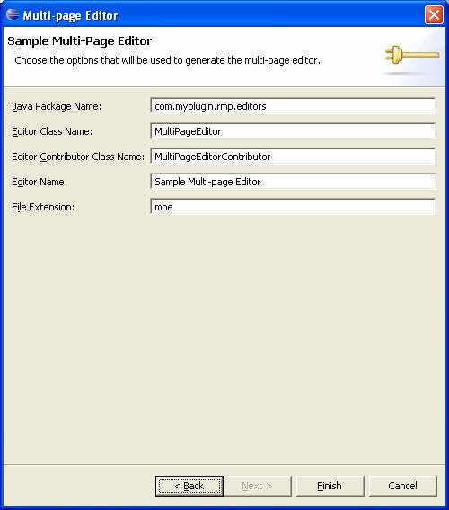 eclipse plugin options for multipage editor