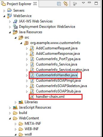 Fig - Handler class and the Handler chain xml file