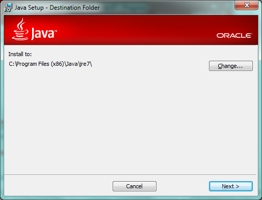 Java Installation Folder.