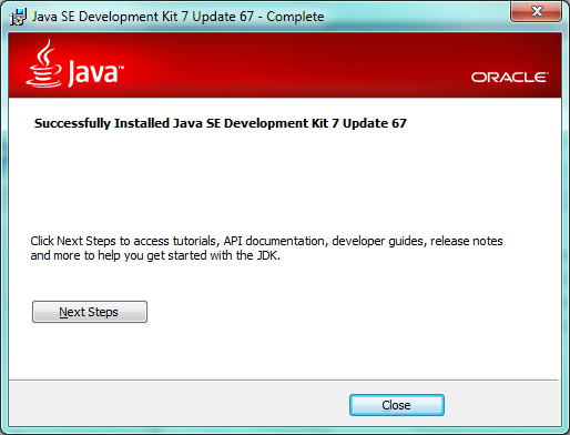 Successful Installation Of Java
