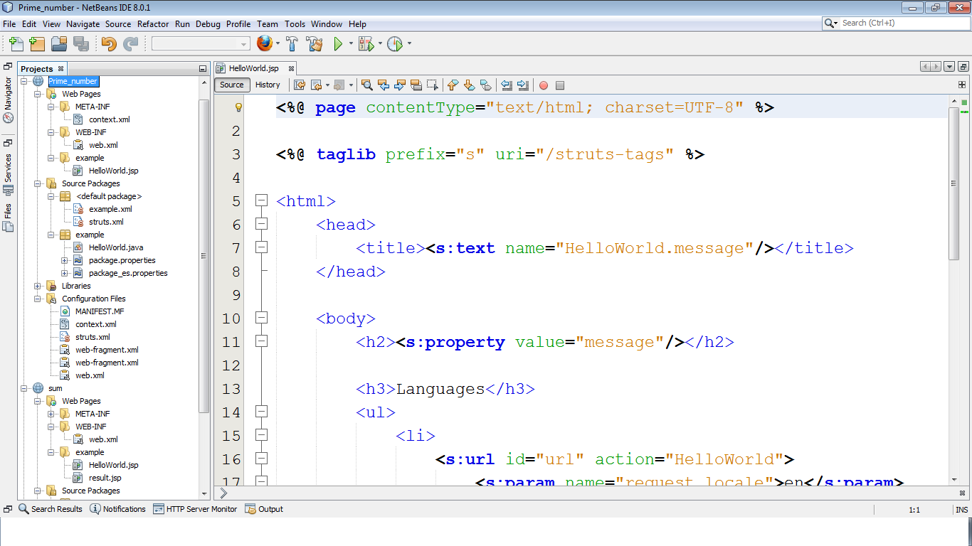 Figure: First page of web application