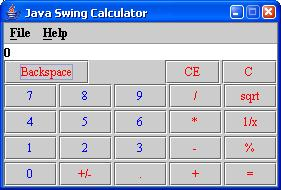 Java Swing Calculator | Wideskills